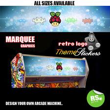 Retropie Arcade Artwork  Marquee Stickers Graphic / Laminated All Sizes