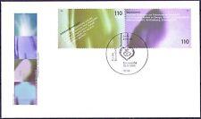 BRD 2001: Gesundheit! FDC des Blockmarken-Zusammendrucks der Nr. 2202+2203! 1902