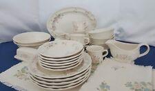TEA  ROSE Pfaltzgraff Buy By The Piece Pink Stoneware Plate Bowl Platter Sugar