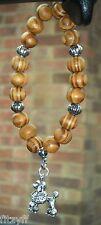 Voiture en bois suspendus en bois perles & Caniche charme pendentif chien caniche Barbone