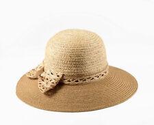 Miuno® Damen Strohhut Sonnenhut Sommer Hut aus Stroh H51008