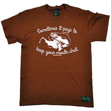 A veces se paga.. cierre para hombre ahogado gusanos Camiseta Tee Peces De Regalo De Cumpleaños