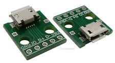Micro USB Buchse mit Platine, 5 Kontakte, Leiterplatte zum Löten, Lötbuchse