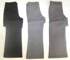 New girls ex high st jersey school trousers black grey age 4 6 8 10 11 12 14
