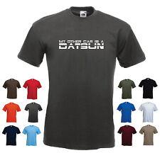 """""""il mio altri auto è una DATSUN"""" Da Uomo T-Shirt Compleanno Divertente Regalo Vendita Blu Navy Grande"""