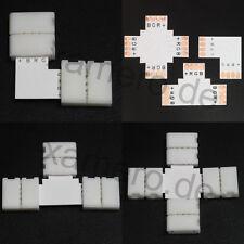 Rgb led strip connecteur l t x croix eckverbinder 4 broches connecteur rapide 10mm 90 °