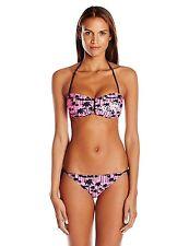 Corona Women's Palm U Wire Bandeau String Bikini String Bikini Bottom P4380 Pink