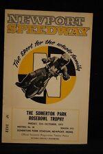 SPEEDWAY Somerton Park Rosebowl Trophy - 12 Oct 1973