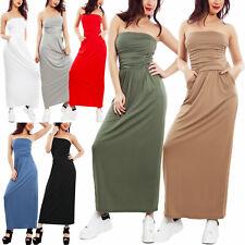 Vestiti Vestito Lungo Donna Abito QOC B495 Tg Unica veste S/M Donna: abbigliamento