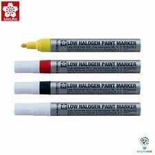 Sakura Low Halogen Permanent Paint Marker 2.0mm   Yellow Red White Black