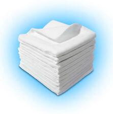 Mussola quadrata, 100% COTONE BIANCO pannolino Baby Pannolini Pack Panno Riutilizzabile Bavaglino pulire