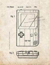 Nintendo Gameboy Patent Print Old Look