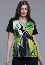 ab2cb953de8 Maleficent Cherokee Scrubs Tooniforms Disney V Neck Top TF694 VIMA