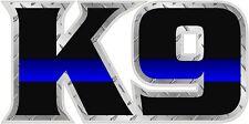 K9 K-9 Police Officer Sheriff Dog Thin Blue Line Law Enforcement Decal Sticker V