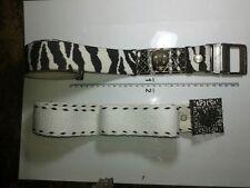 Belt Cotton 4 cm Buckle Zebra Eagle Artisan Vintage Craft Belt ME1