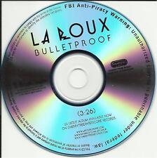 LA ROUX Bulletproof PROMOradio DJ CD Single Bullet Proof 2009 MINT