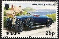 1924 CHENARD et WALCKER T5 Two-Seater Mint CAR STAMP (Jersey)
