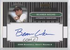 2008 Razor Signature Series Black #200 Beamer Weems Auto Rookie Baseball Card