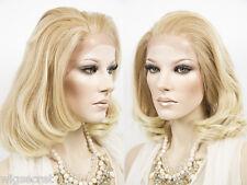 Medium Lace Front Heat Friendly Wavy Straight Blonde Brunette Red Wigs