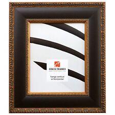 "Craig Frames Marais II, 2.8"" Aged Black & Gold Wood Picture Frame"