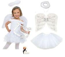 Girls Angel Costume Christmas Xmas Kids Nativity Fancy Dress Outfit New 4-6-8-10