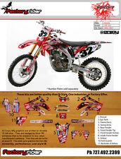 2005-2008 HONDA CRF 450 Team SOLITAIRE  Motocross Graphics Dirt Bike Graphics