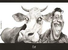 Affiche DA COSTA Fernandel La vache et le prisonnier 30x40 cm