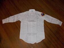 NOS Vintage Lion Apparel Work Uniform Blue Collar Long Sleeve White Shirt USA