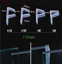 F-Shape Shower Door Bath Screen Seal Strip | 6-12mm Thickness Curved Flat Glass
