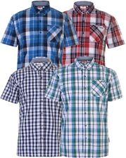 ✔ LEE COOPER Herren Hemd kariert kurzarm Short Shirt Freizeithemd Kragen Sommer