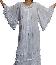 Assorted Colors Hippie Gauze Crochet Dress Mexican Dress 60's Retro Angel Dress