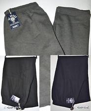 Pantalone UOMO felpa inverno calibrato 3XL 4XL 5XL 6XL blu nero grigio OVERSIZE