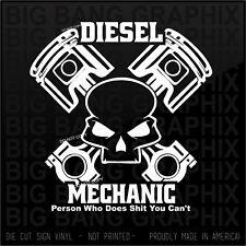Skull Piston Diesel Sticker Decal Heavy Equipment...