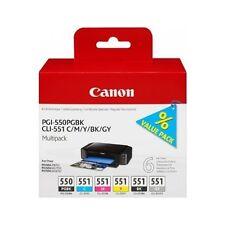 ORIGINAL CANON pgi-550 & cli-551 Cartucho de tinta multipack (6496b005)
