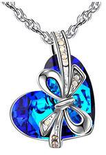 Heart Bowtie Nekclace Crystal Pendant made with Swarovski elements