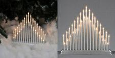 moderno 33 a lume di candela a Ponte Arco Natale Decorazione finestra Argento