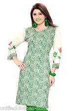 Vestido de fiesta Moda Para mujeres indio paquistaní Fancy Kurti Kurta túnica superior camiseta 393