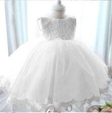 Delilah Baby Flower Girl Formal Lace Dress Christening Wedding Birthday 0-6Y