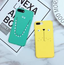 Cute Cartoon Animal Face Crocodile Dog Phone Case for Apple iPhone All Model