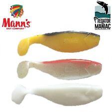 "Mann's 3"" (8 cm)kopyto shad.3pcs.lure.predator fishing pro shad,vertical,jig,"