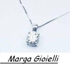 GIROCOLLO PUNTO LUCE ORO BIANCO 18 KT CON DIAMANTE TAGLIO BRILLANTE 0,10 CT