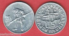 S83 SAN MARINO 5 LIRE 1978 LO SPAZZINO DA SERIE DIVISIONALE KM 78  FDC / UNC