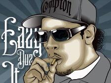 Eazy-E Compton Gangsta Art NWA Rapper Hip-Hop Rap Huge Print POSTER Affiche