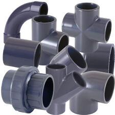 PVC-U Fitting Winkel und Bogen mit Klebemuffen für Gartenteich  Schwimmbad PVC