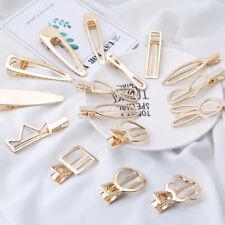Fashion Women Gold Geometric Hair Clips Barrette Bobby Hairpin Hair Accessories