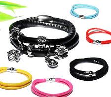 ARMBAND + JEDE LÄNGE + Wechselschmuck Anhänger charms beads endlos Wickelarmband
