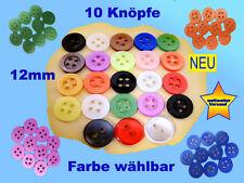 10 kleine Knöpfe Knopf Hemdknöpfe Puppenknöpfe Kinderknöpfe  Farbe wählbar NEU