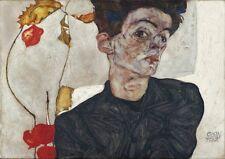 Self portrait by Egon Schiele art print on 230gsm photo paper choose size