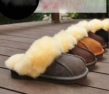 New Winter Women Men Fur Furry Warm Plush Indoor Couple Home Slippers Size 4-11