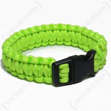 VERDE Paracord Bracciale Sopravvivenza Campeggio Hiking cord braccialetto-Tutte le Taglie